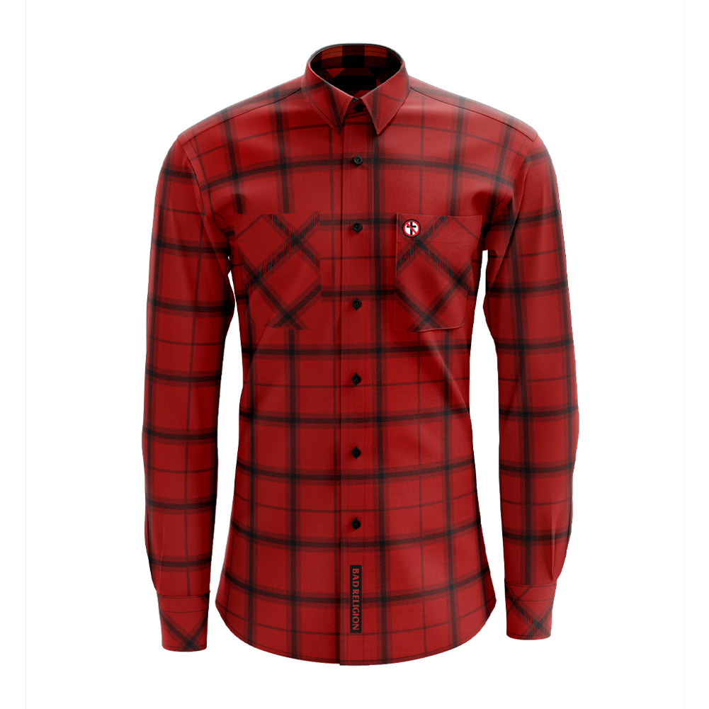 Bad Religion - Crossbuster Flannel (Red)
