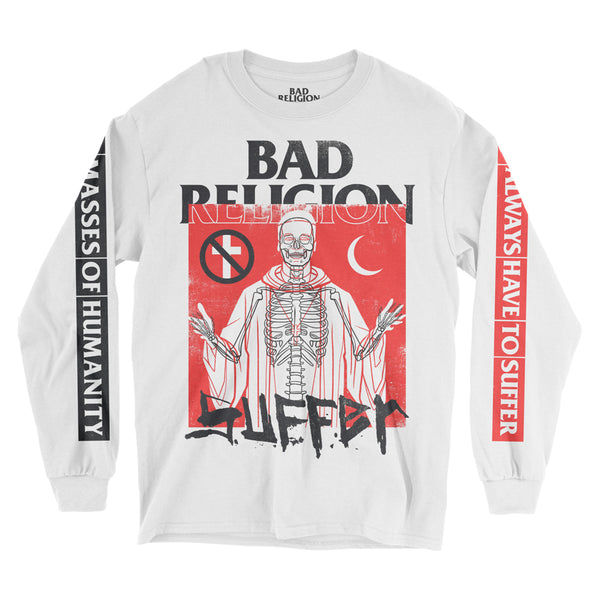 Bad Religion - Suffer Longsleeve Tee (White)