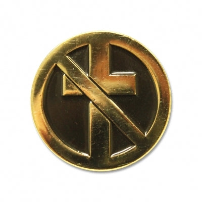"Bad Religion - Classic Crossbuster Gold Enamel Pin (1"")"