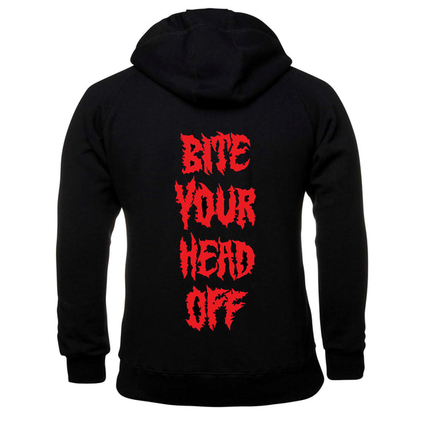 King Parrot - Bite Your Head Off Pullover Hoodie (Black) front