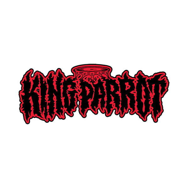 King Parrot - KP Red Logo Sticker