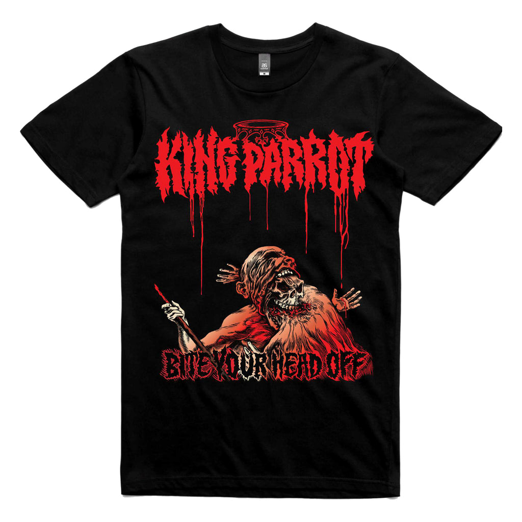 King Parrot - Bite Your Head Off T-shirt (Black) front