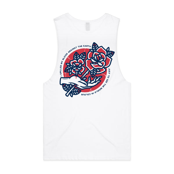 Polaris - Rose Tank (White) front