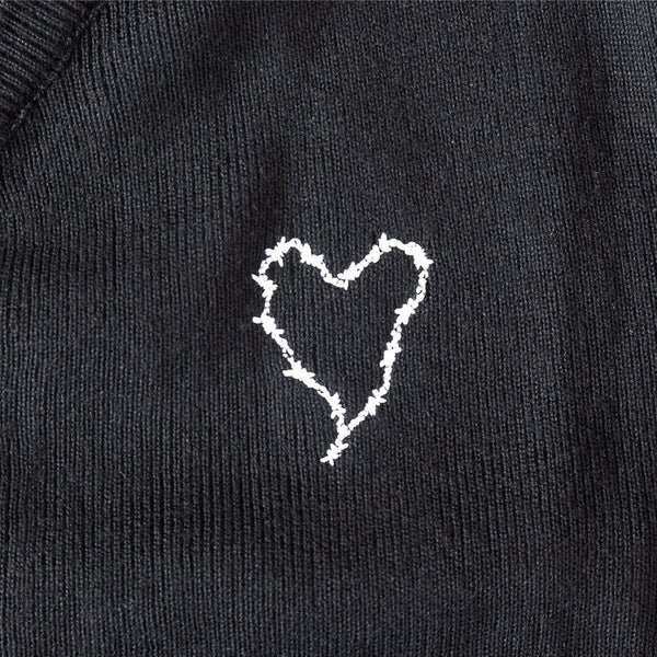 Frank Iero - Barbed Wire Heart Cardigan (Black)