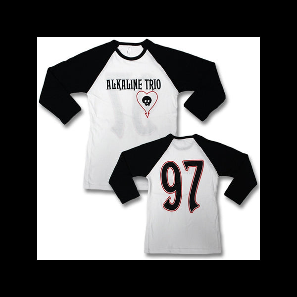 Alkaline Trio Baseball Womens T White body Black Sleeves