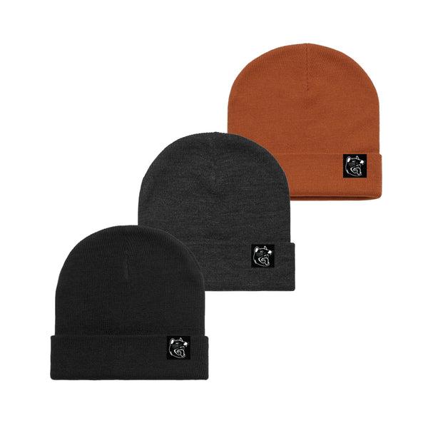 Luca Brasi - Devil Patch Beanie (Black, Asphalt, Copper)
