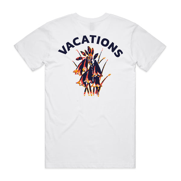Vacations - Bells Tee (White) front