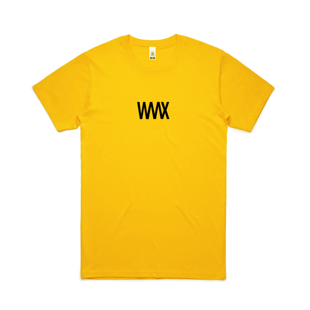 WAAX - Black on Gold Logo Tee