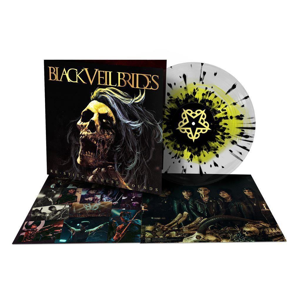 Black Veil Brides - Restitch These Wounds LP (Clear w/ Yellow & Black Splatter)