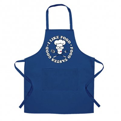 I Like Food Apron (Royal Blue)