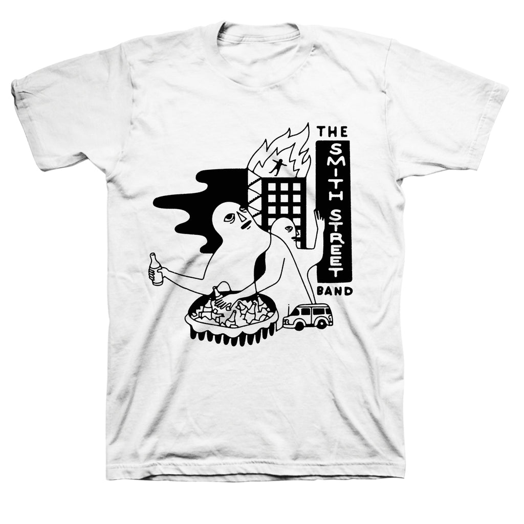 The Smith Street Band - Burning Building Tee (White)