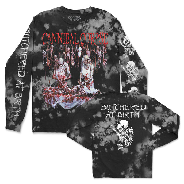 Cannibal Corpse - Butchered At Birth Long Sleeve (Ash Dye)