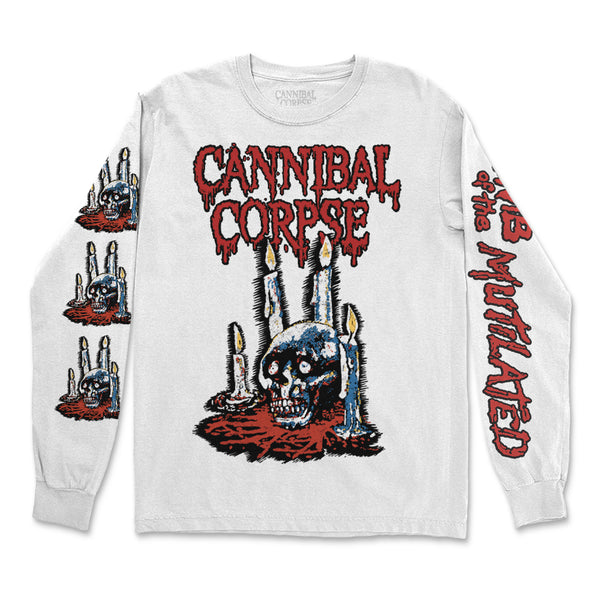 Cannibal Corpse - Ritual Candles Long Sleeve (White)