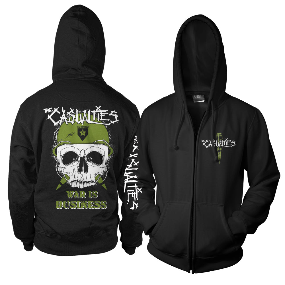 The Casualties - War Skull Hoodie