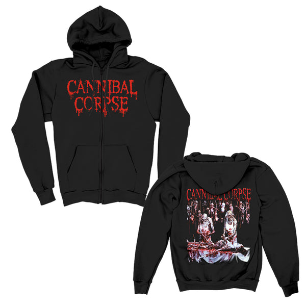 Cannibal Corpse - Butchered At Birth Zip Up Hoodie (Black)