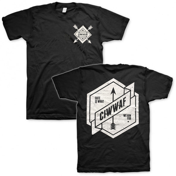 Cute Is What We Aim For - Arrow Logo T Black