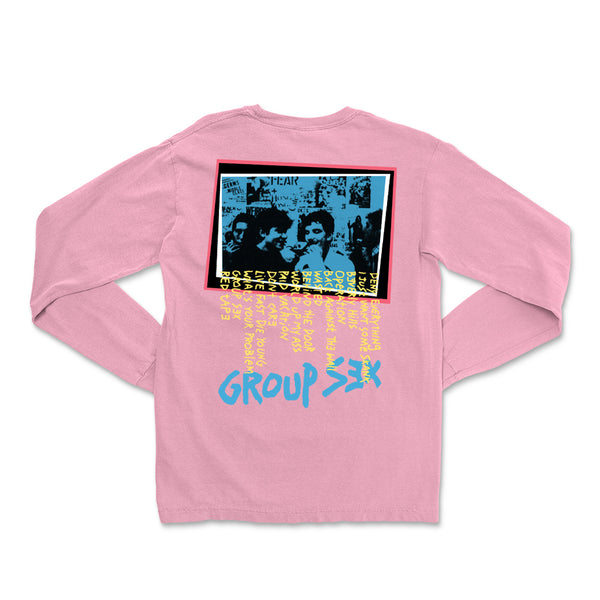Circle Jerks - Group Sex Photo Long Sleeve (Pink) back