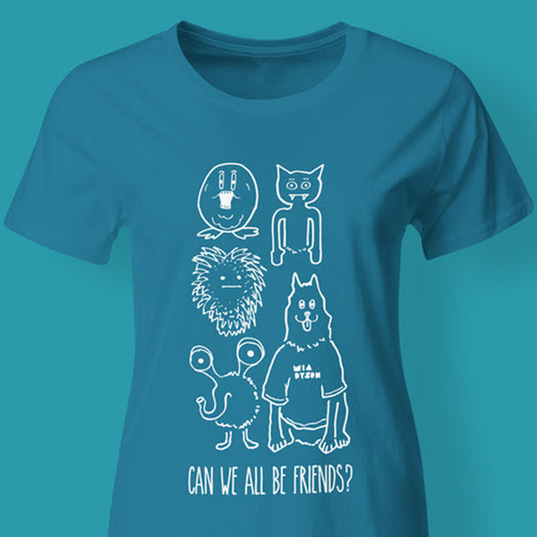 Mia Dyson - Can We All Be Friends Tee (Blue)