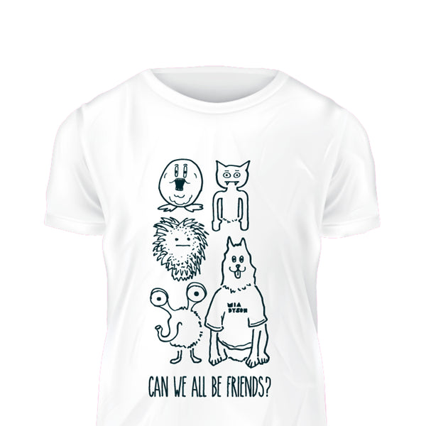 Mia Dyson - Can We All Be Friends Tee (White)