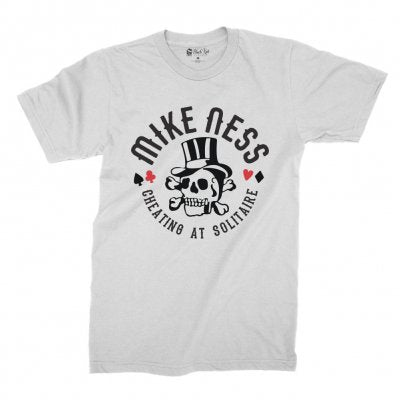 Mike Ness - Cheating At Solitaire T-shirt (White)