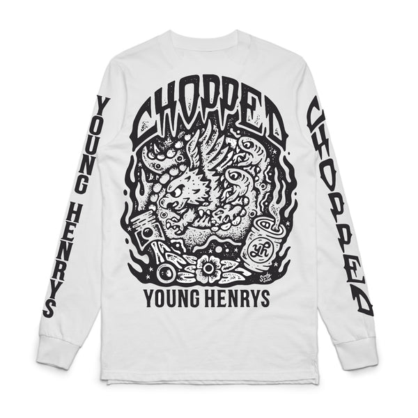 Chopped x Young Henrys Longsleeve (White) front