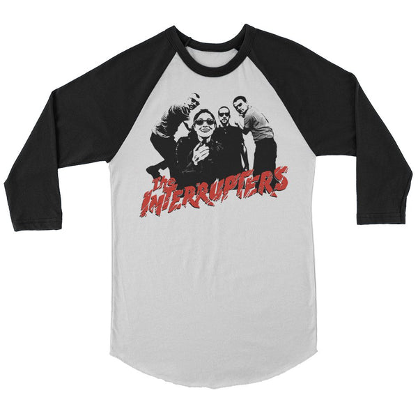 The Interrupters - Clash Raglan (White/Black)