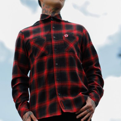 Bad Religion - Crossbuster Flannel (Black/Red) Photo 2