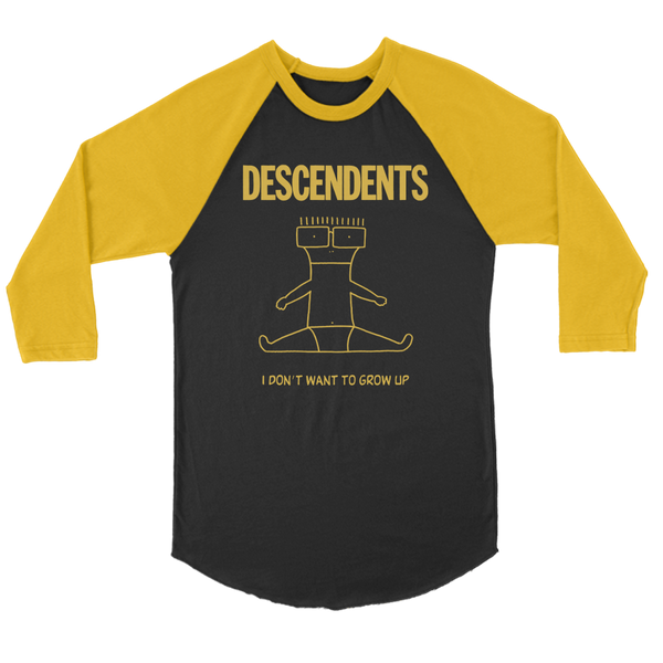 Descendents - I Don't Want To Grow Up Raglan (Black/Gold)