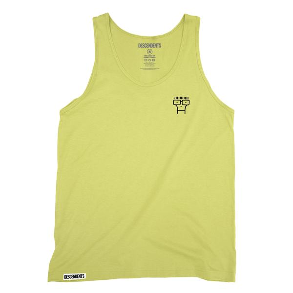 descendents milo embroidered tank yellow - Descendents Christmas Sweater