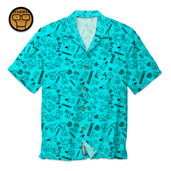 Descendents - Milo Pattern Shirt (Aqua)