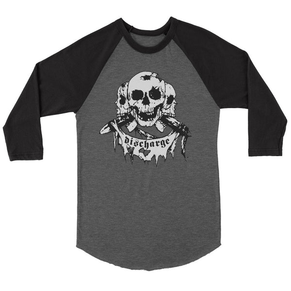 Discharge - Born To Die Raglan (Black/Heather)