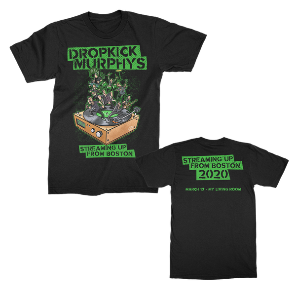 Dropkick Murphys - Streaming Up T-shirt (Black)