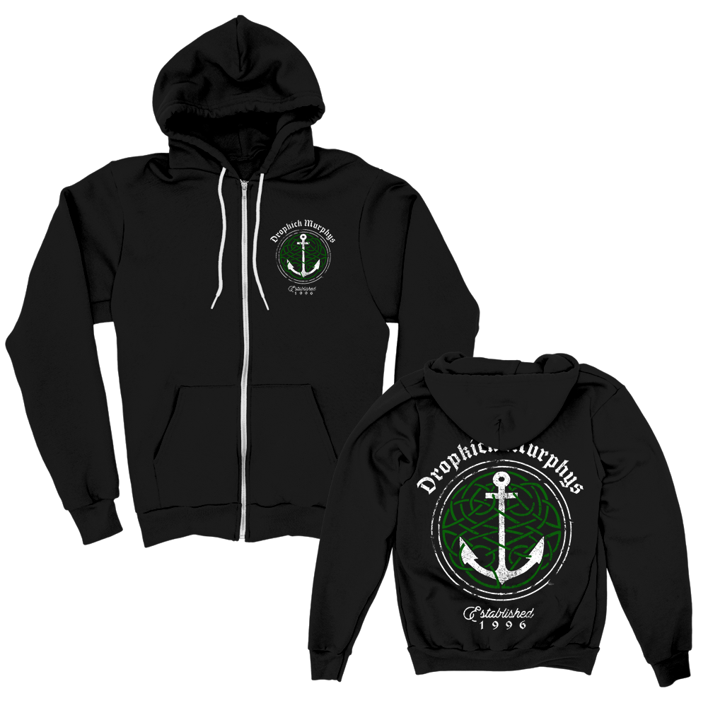 Dropkick Murphys - Celtic Knot Anchor Zip Hoodie (Black)