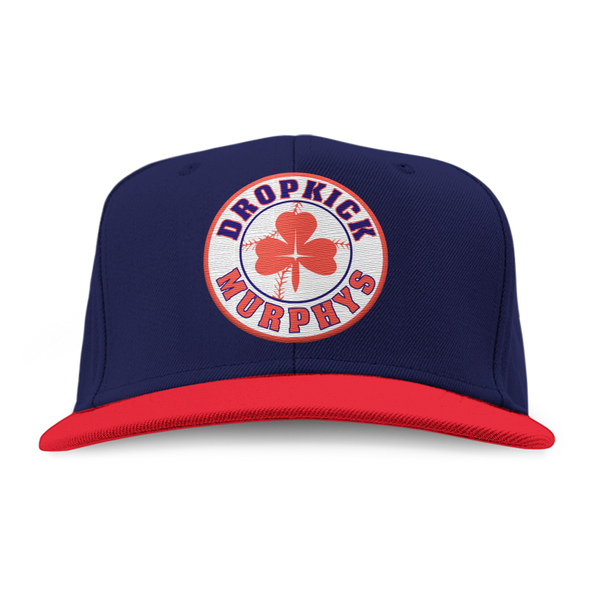 Dropkick Murphys - Shamrock Patch Snapback Hat (Navy/Red)