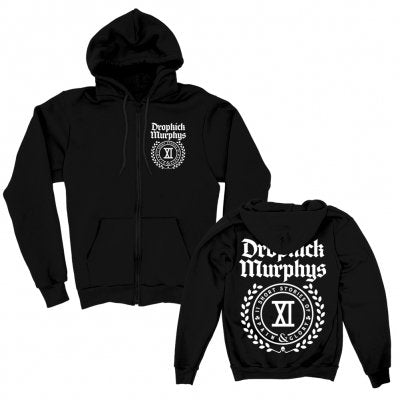 Short Stories Crest Zip-Up Hoodie (Black)