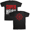 Superheist - Stacked Logo T Black/Red back
