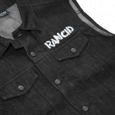 Rancid - Rancid Skull Denim Vest front detail