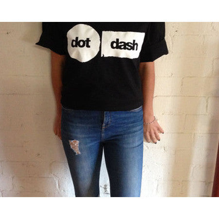 Dot Dash Black T-shirt