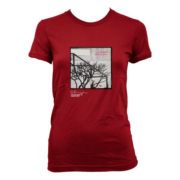 Ed Kuepper - Electrical Storm Womens T-shirt (Red)