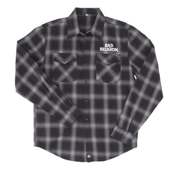 Bad Religion - Embroidered Logo Flannel (Black/Grey)