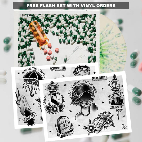 Ocean Sleeper - 1 Year Don't Leave Me This Way LP + Flash Sheet Bundle