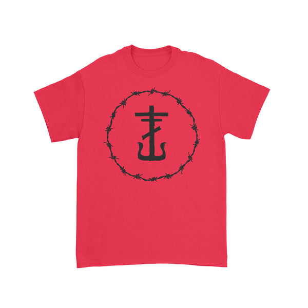 Frank Iero - Barbed Wire Anchor T-Shirt (Red)