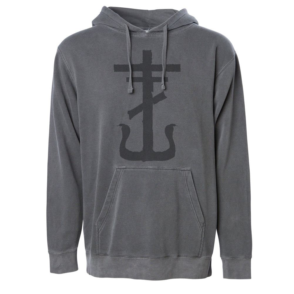 Frank Iero - Cross Pullover Hoodie (Faded Black)