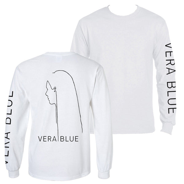 Vera Blue long sleeve T-shirt white
