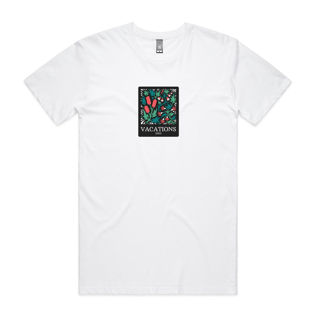 Vacations - Floral Tee (White)