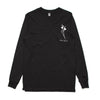 Vera Blue - Flowerface Longsleeve (Black) Front