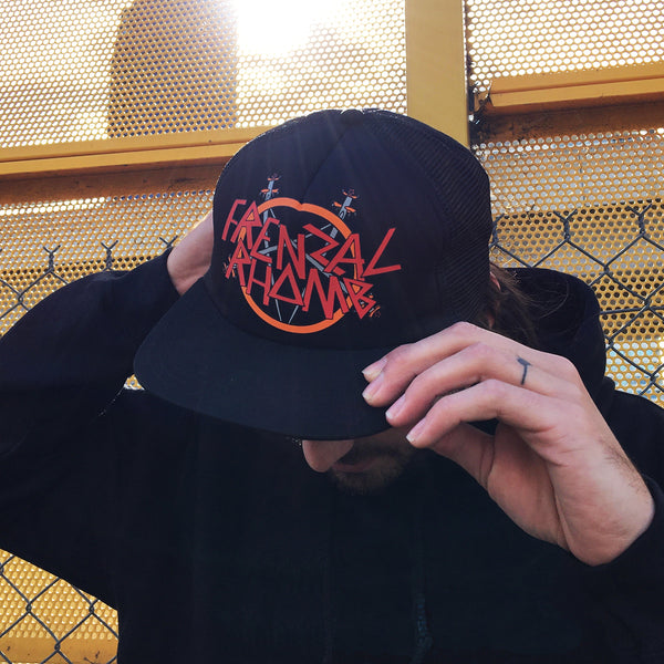 Pell Awaits Logo Flip Up Trucker Hat