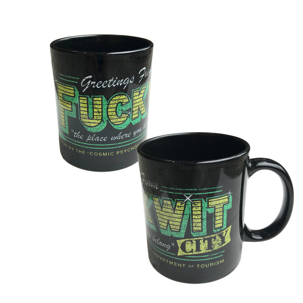 Cosmic Psychos - Fuckwit City Mug (Black)