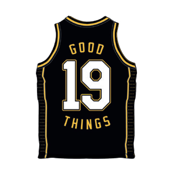 Good Things 2019 Basketball Jersey (Black) front