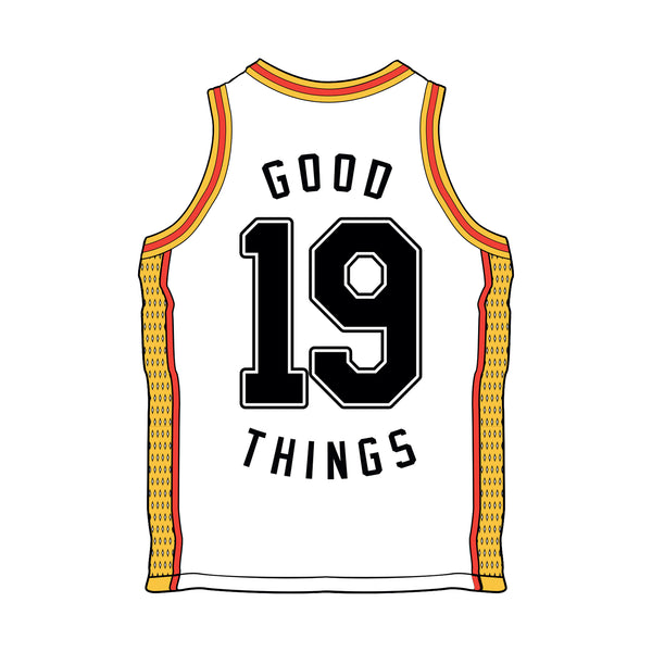 Good Things 2019 Basketball Jersey (White) front